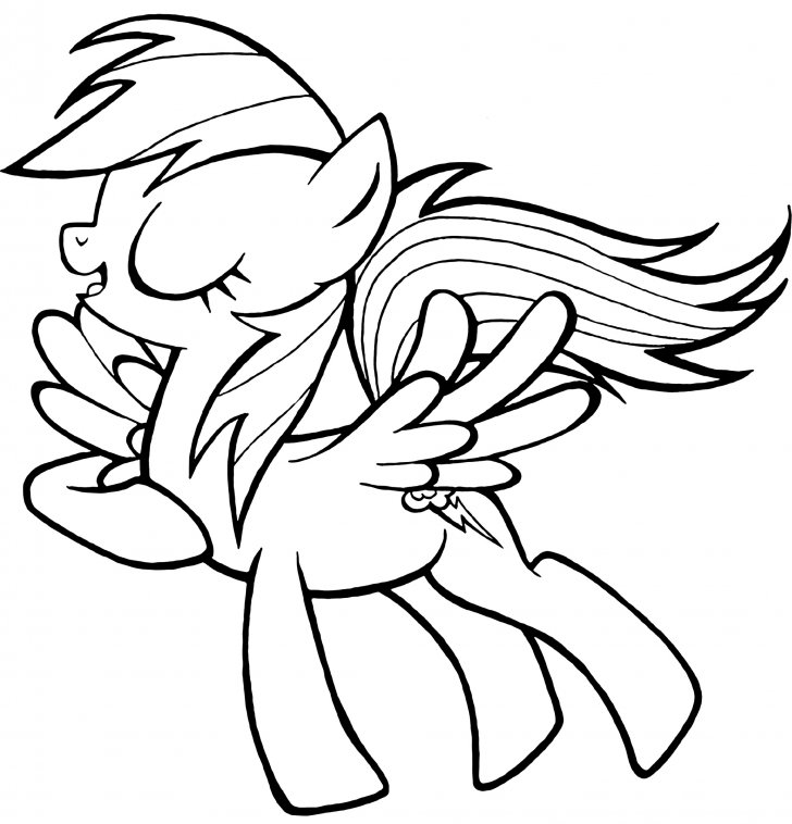 Coloring book My Little Pony: Pony Rainbow Dash  Coloring Page