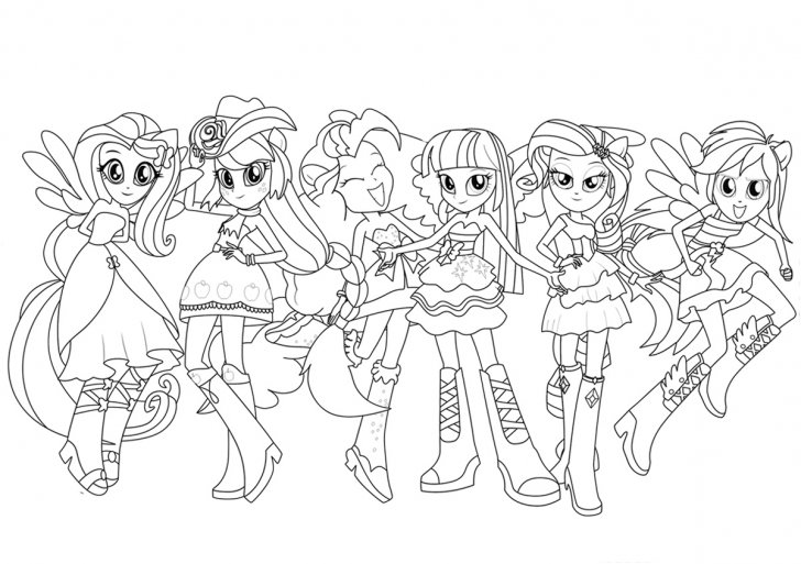 Coloring book Equestria Girls  Coloring Page