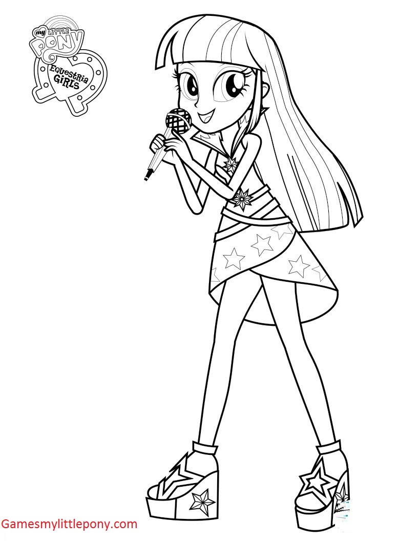 My Little Pony Twilight Sparkle Singer Coloring Page