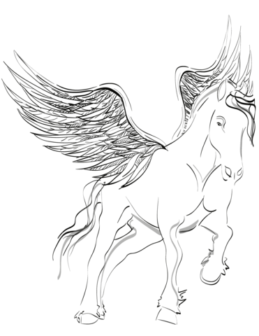 My Little Pony Pegasus  Coloring Page