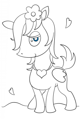 My Little Pony Chibi Pegasus Girl Coloring Page