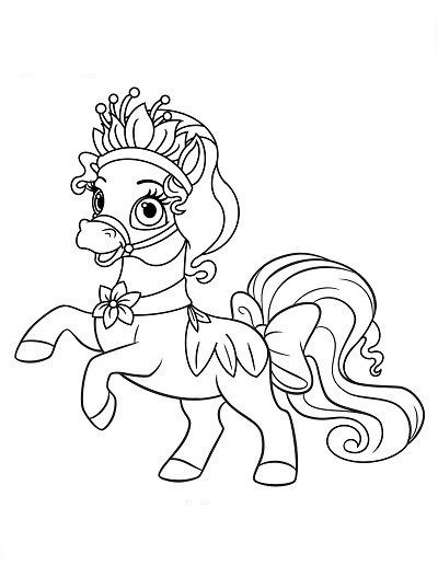 My Little Pony With Crown  Coloring Page