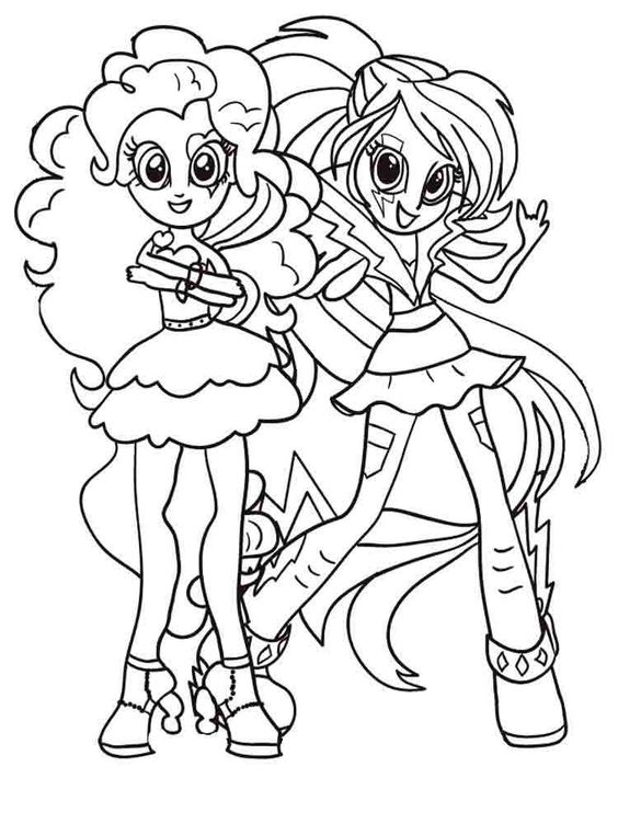 My Little Pony Apple And Pinkie Pie Coloring Page
