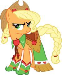 My Little Pony Apple Jack Dress Up Picture