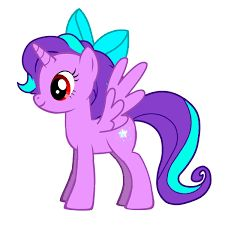 My Little Pony Apple Bloom Purple Coloring Picture