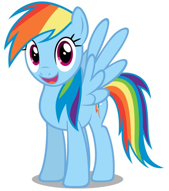 My Little Pony Rainbow Dash Character Picture