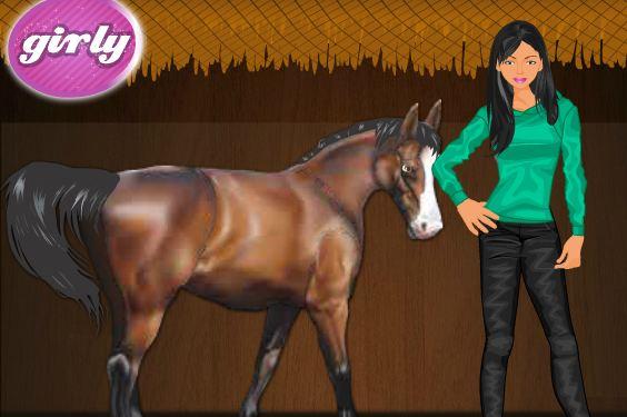 Horse Riding Girl Dressup Game