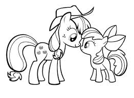 Enjoy My Little Pony Coloring Page With The Paper