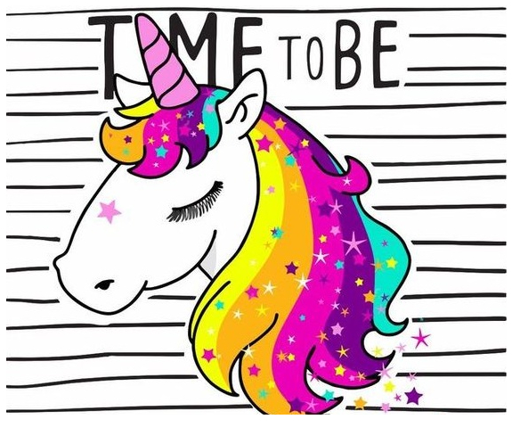 Unicorn Coloring Time Coloring Page
