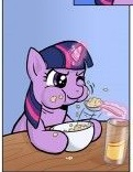 My Little Pony Eating And Drinking Picture