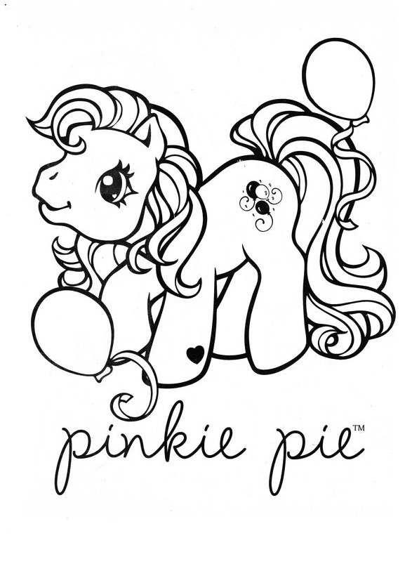 My Little Pony Pinkie Pie As Unicorn Coloring Page