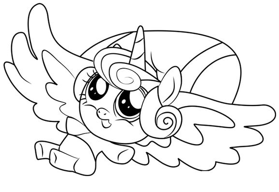My Little Pony Flurry Heart Coloring Coloring Page