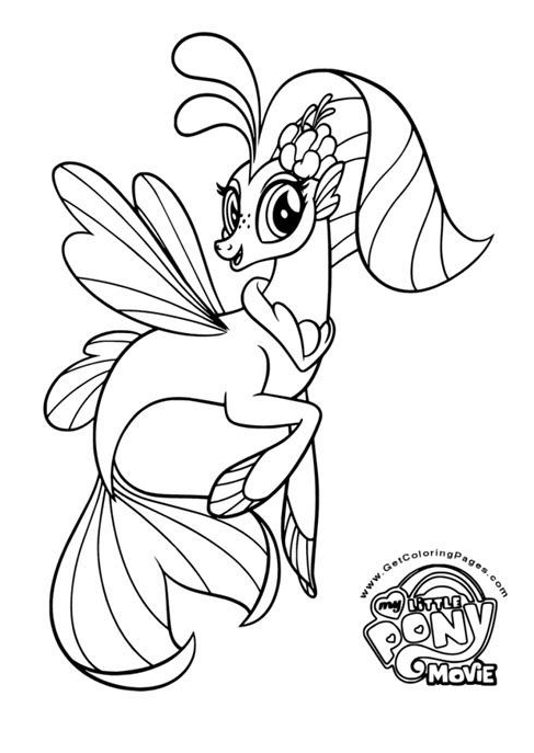 My Little Pony Dress Up Princess Skystar  Coloring Page