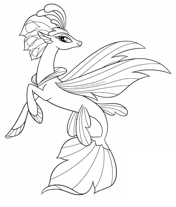 My Little Pony Queen Novo Coloring Page