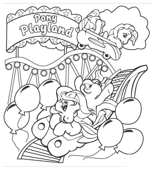 Pony Playland from My Little Pony Coloring Page