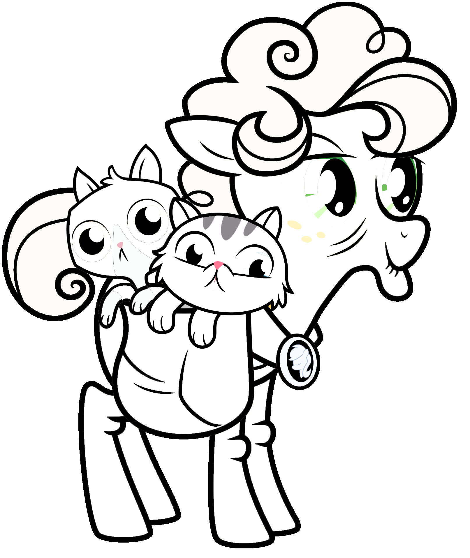 Mlp Coloring Goldie Delicious Coloring Page