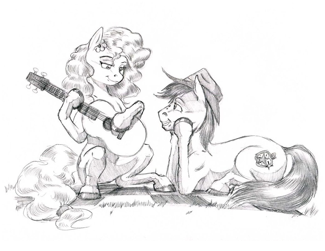 My Little Pony Bright Mac and Pear Butter  Coloring Page