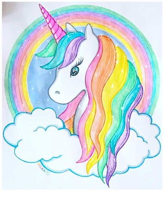 Unicorn In Fantastic Coloring Page