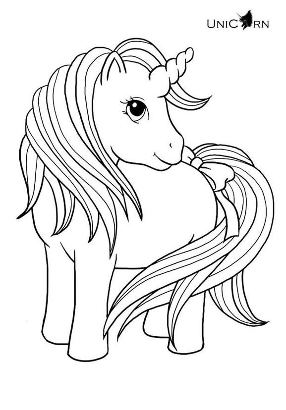 Nice Unicorn Coloring Page