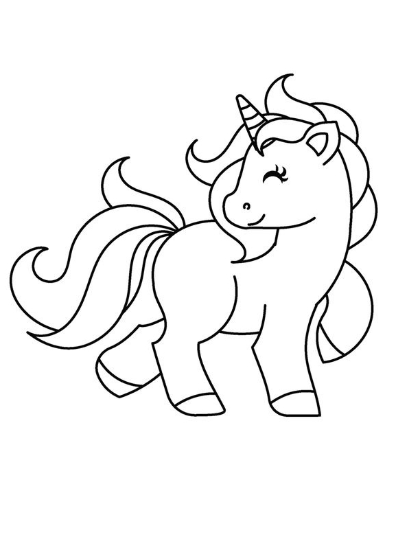 Baby Unicorn Coloring 2  Coloring Page