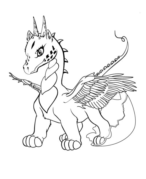 Dragon Unicorn Coloring Coloring Page