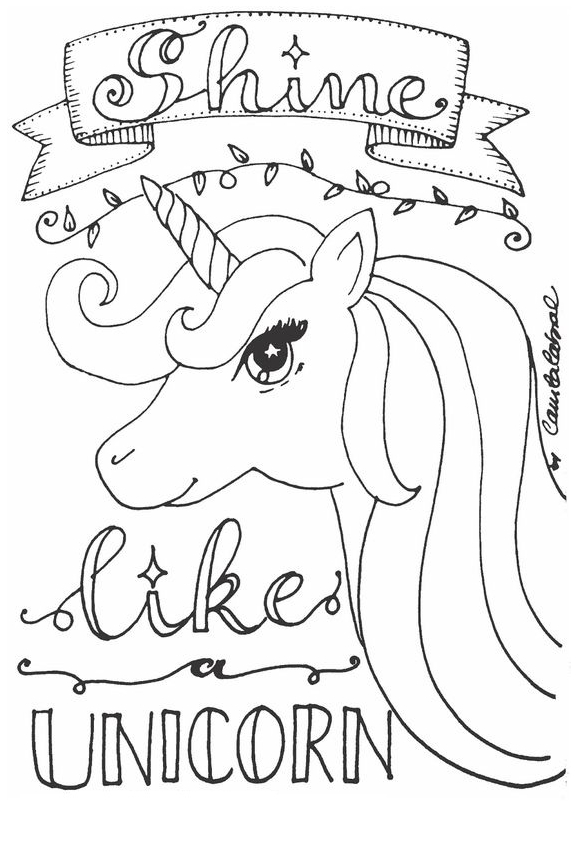 Like Unicorn Coloring Coloring Page