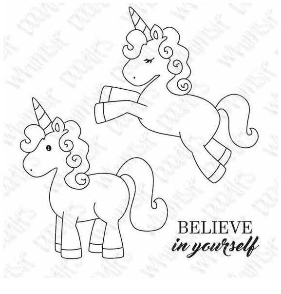 Two Baby Unicorn Coloring Coloring Page