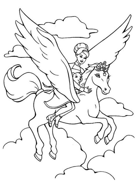 Uniron Coloring With Princess And Baby  Coloring Page