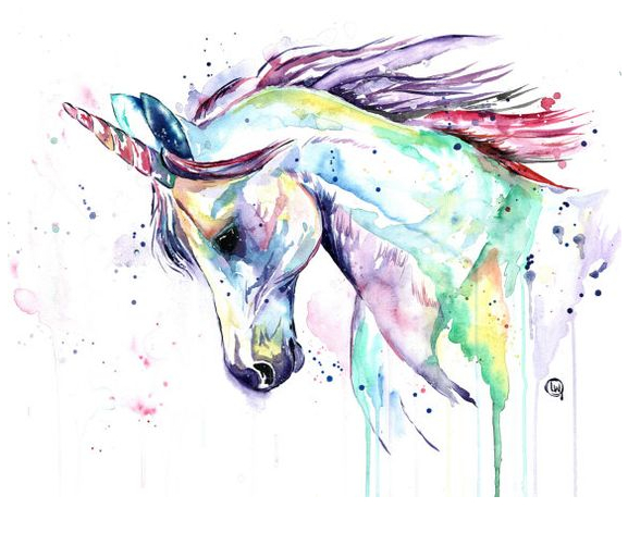 Unicorn Coloring Painting  Coloring Page