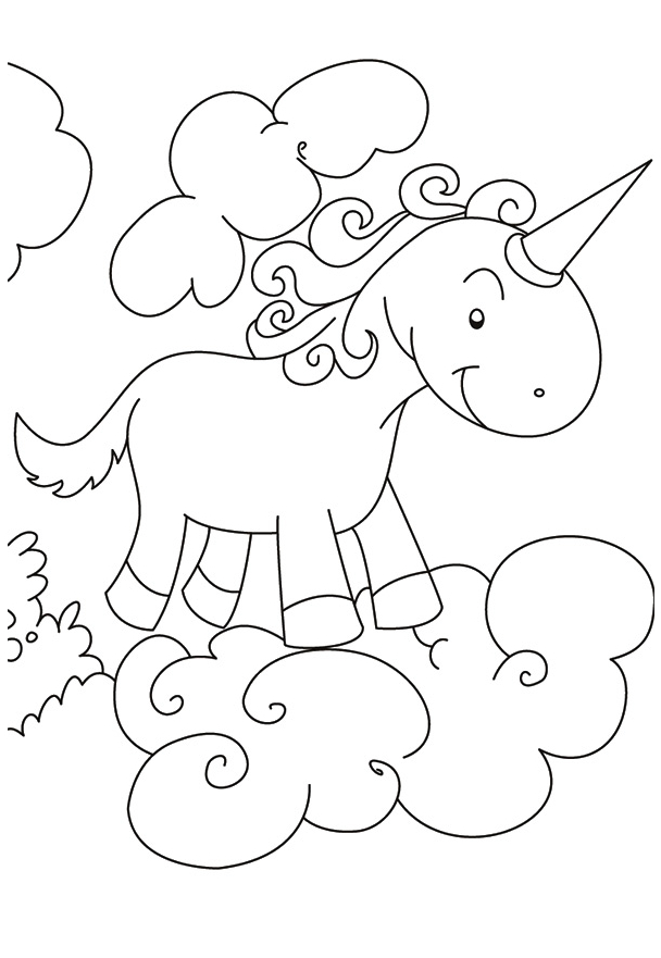 Cute Unicorn European Coloring Page Coloring Page