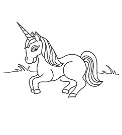 Cartazon Unicorn Coloring Page  Coloring Page