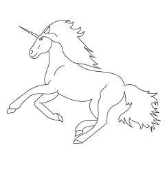 Cute Midnight Unicorn Coloring Page  Coloring Page