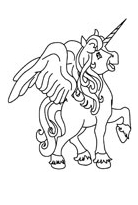 Unicorn Coloring Winged Coloring Page