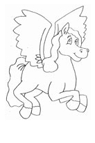 Pegasus Coloring Cartoon  Coloring Page