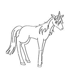Unicorn Coloring Ruva  Coloring Page