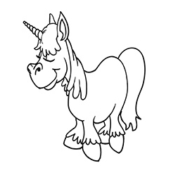 Unicorn Coloring Above The Clouds Coloring Page
