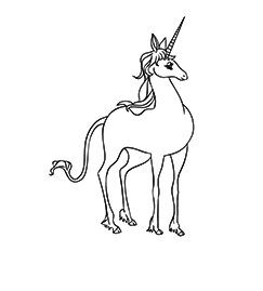 Unicorn From Daniels Dream  Coloring Page