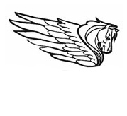 Pegasus Head Coloring 3  Coloring Page