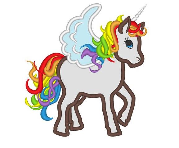 Unicorn Coloring Multi Colors  Coloring Page