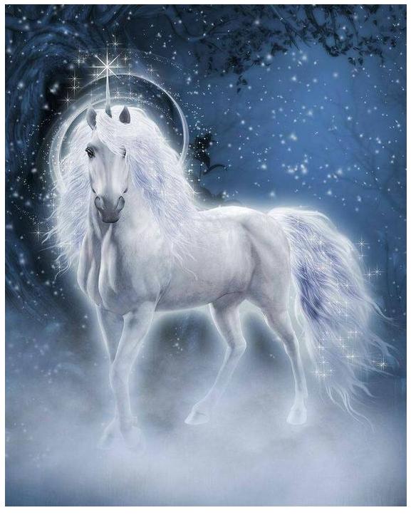 Unicorn Picture Magic  Coloring Page