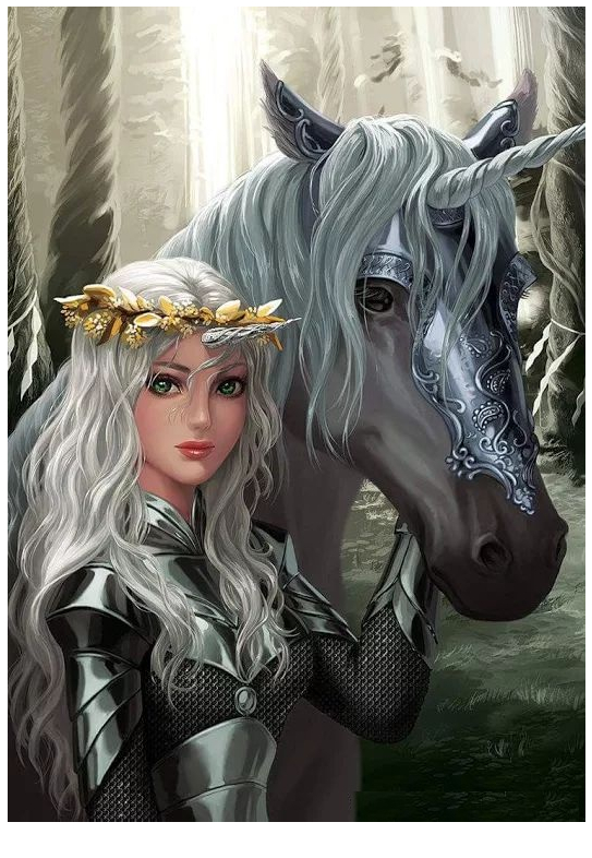 Unicorn Coloring And Girl  Coloring Page