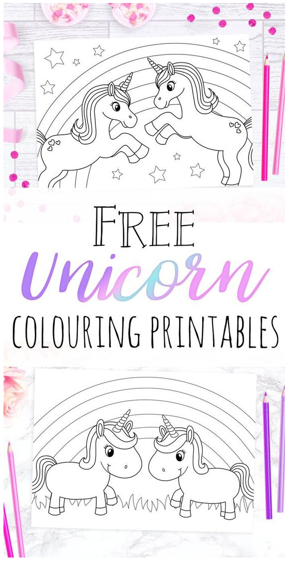 Unicorn Coloring Printables  Coloring Page