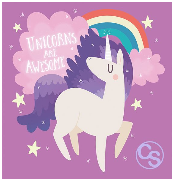 Unicorns Are Awsome  Coloring Page