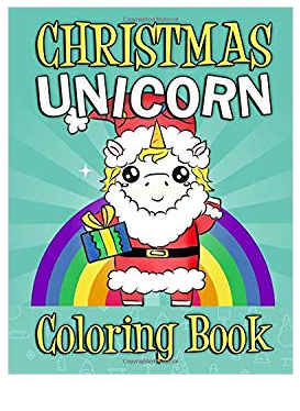 Chrismas Unicorn Coloring Book Coloring Page
