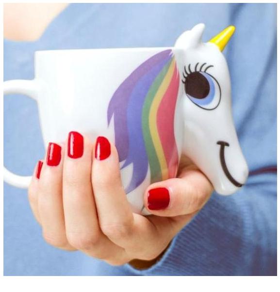 Unicorn Color Changing Mug Coloring Page
