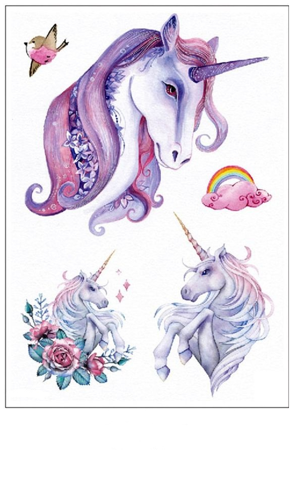Multi Unicorn Heads Coloring  Coloring Page