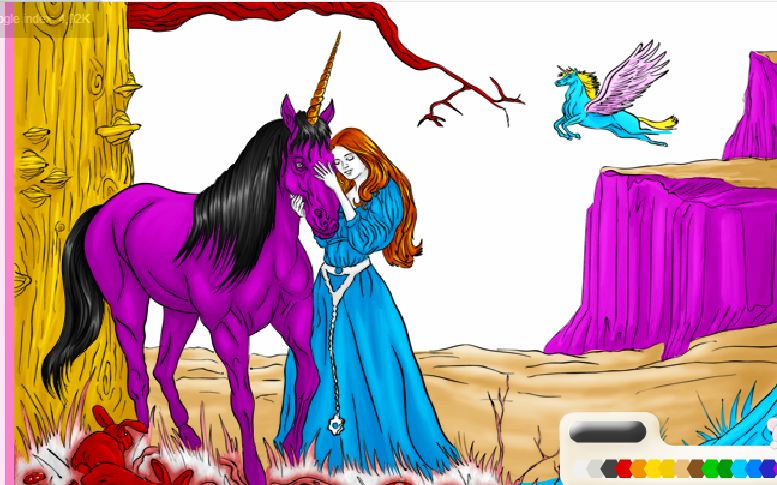 Color Up Unicorn Game