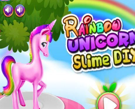Rainbow Unicorn Slime Diy Game