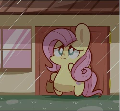 My Little Pony Fluttershy In Raining Picture
