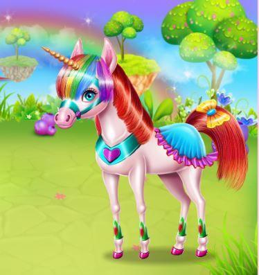 Unicorn Beauty Salon Game